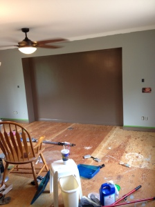 Note the newly painted baseboards.