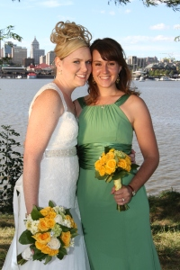 Me and Amy at my wedding...