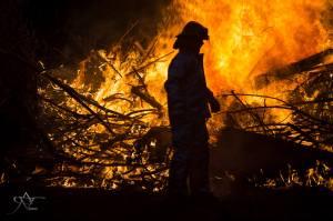 still aflame