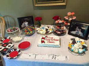 A Very Merry Un-Bridal Shower Sweets Table