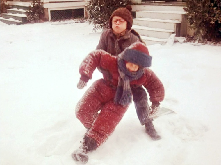A Christmas Story Kid In Snowsuit.Dangerous Cold And A Full Barn Almost Farmgirl